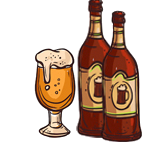 Garmischer Hof Bierbrauerei Zeichnung Bierverkostung