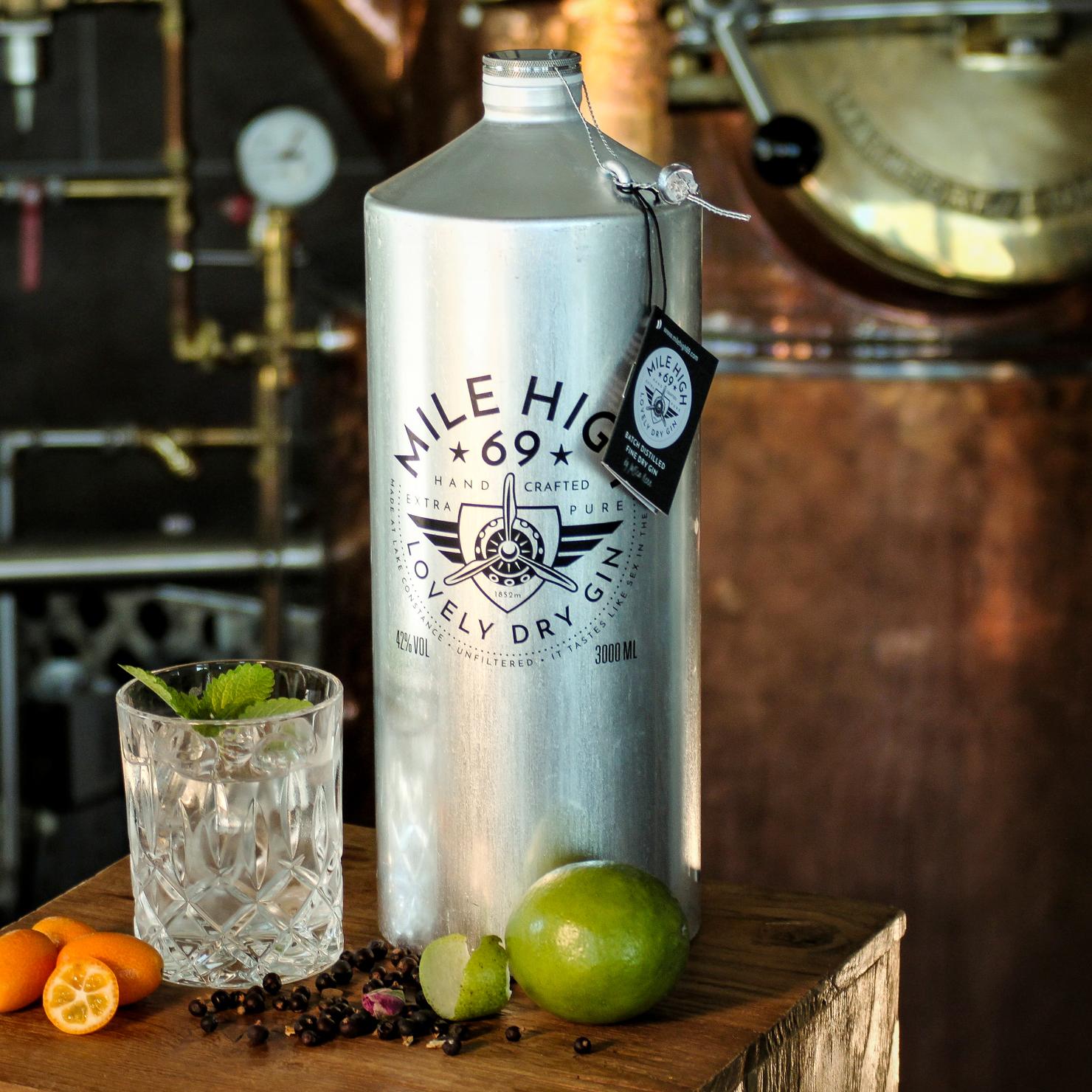 Garmischer Hof Bierbrauerei Getränkekarte Mile High Gin