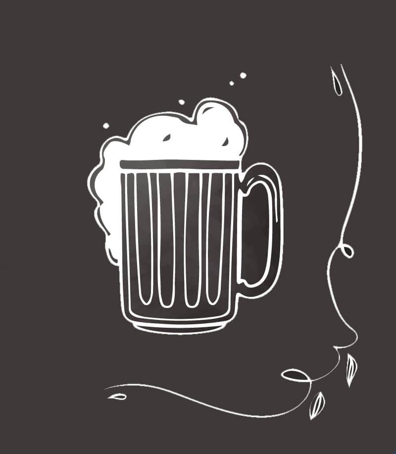 Garmischer Hof Bier Zeichnung