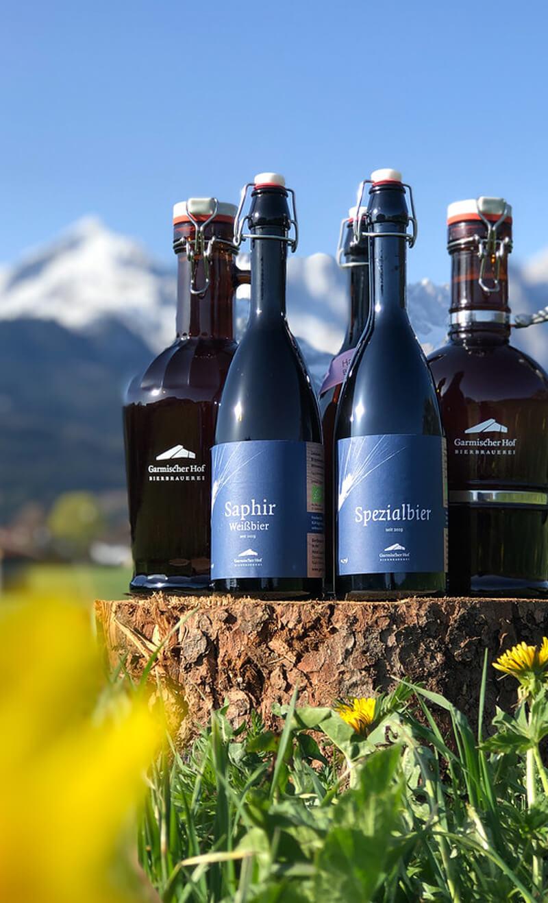 Garmischer Hof Biersortiment Bio Bier Garmisch