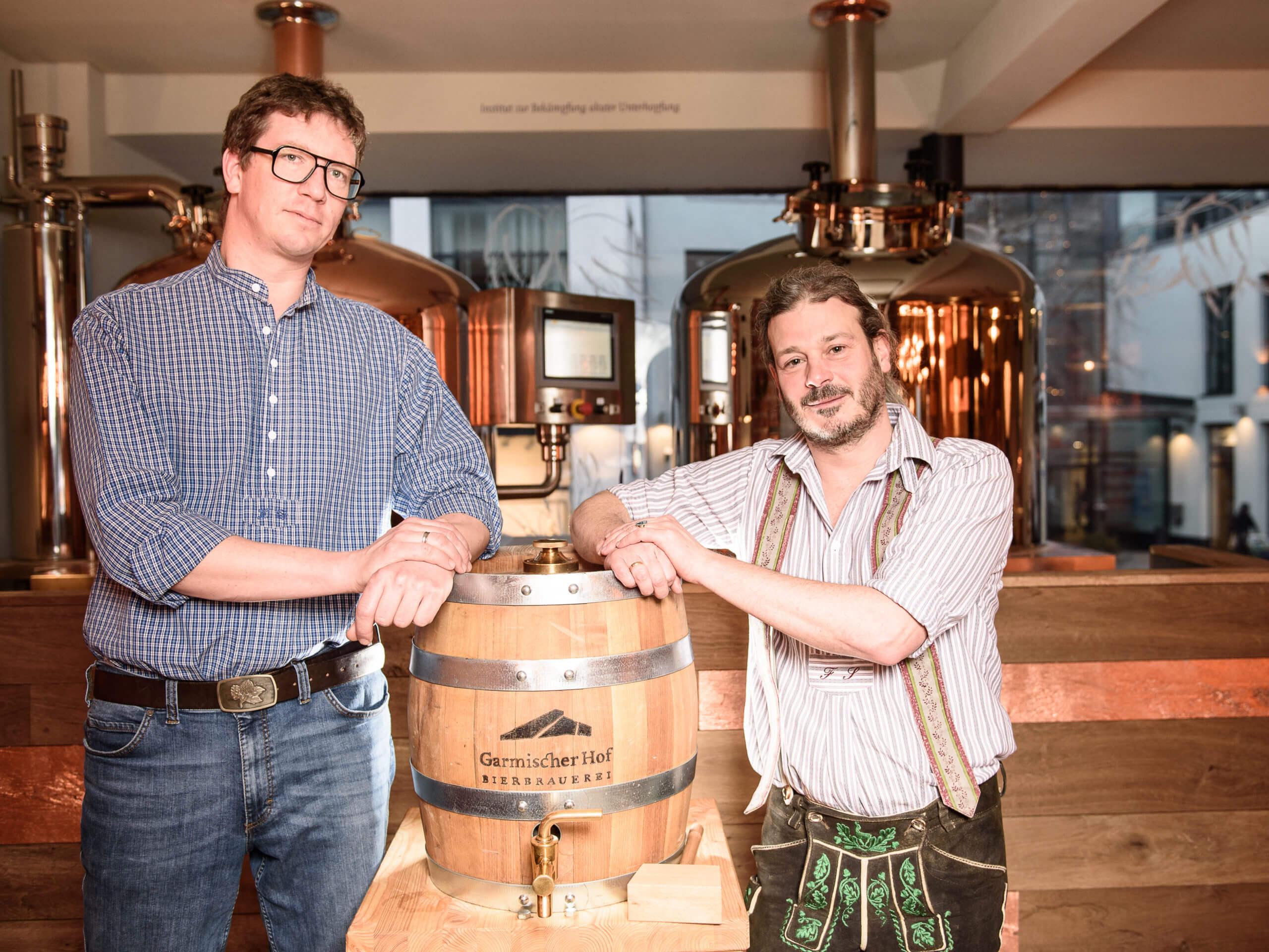 Garmischer Hof Brauerei Florian und Lorenz Bierbrauer