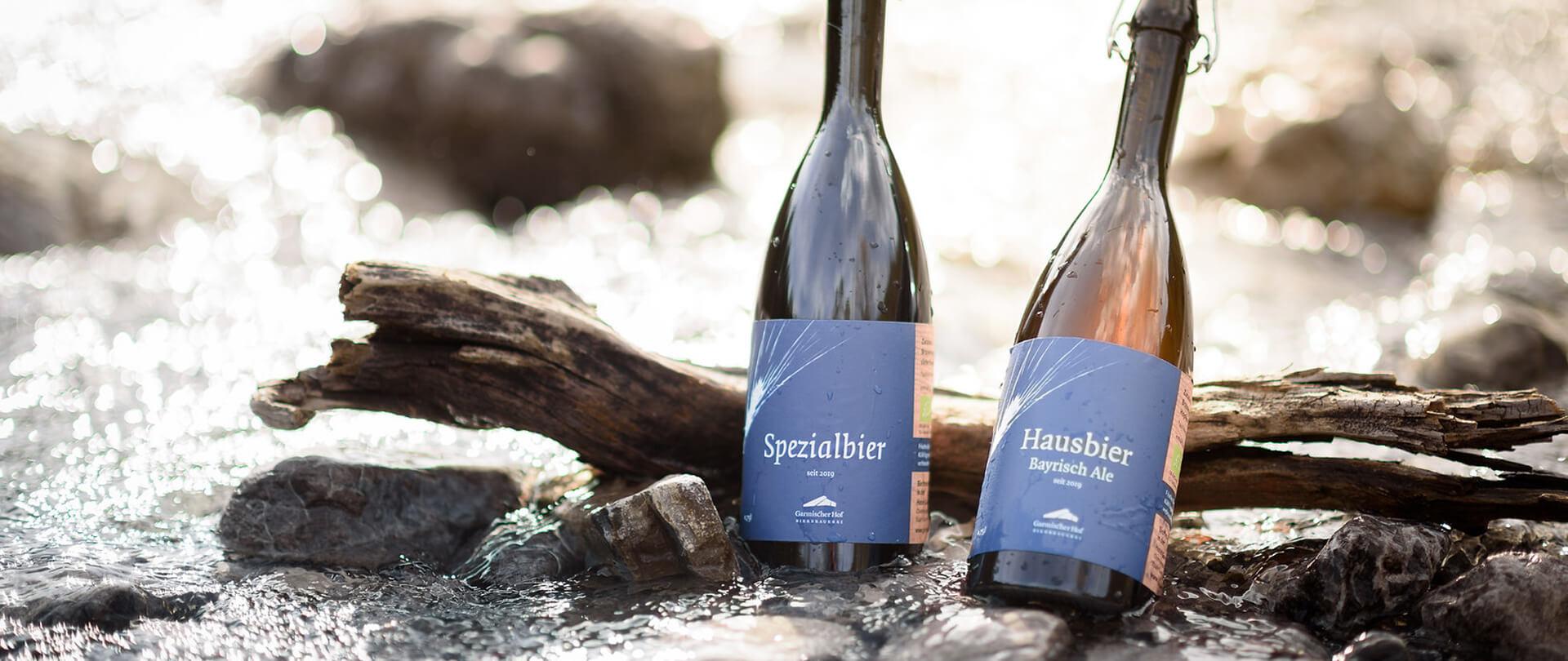 Garmischer Hof Bierbrauerei Biere Flaschen