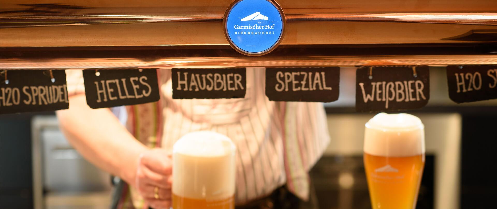 Garmischer Hof Bierbrauerei Bierzapfanlage